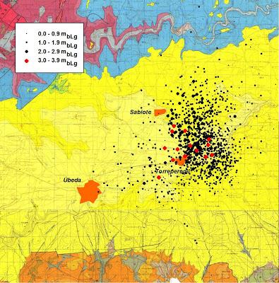 Informe preliminar sobre la serie de terremotos en Torreperogil (Jaén)